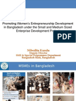 Promoting Women's Entrepreneurship Development in Bangladesh under the Small and Medium Sized Enterprise Development Project by Nibedita Kundu