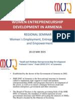 Women Entrepreneurship Development in Armenia by Karen Gevorgyan