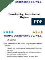 Housekeeping, Sanitation and Hygiene