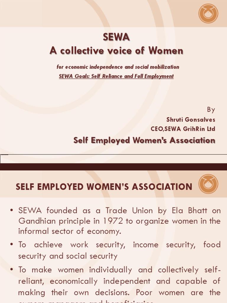 self employed womens association