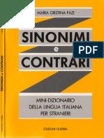 Fazi M.C. Sinonimi e contrari - Mini-dizionario della lingua italiana per stranieri