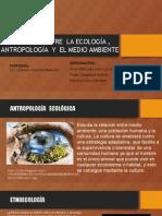 Relación Entre La Ecología , Antropología y El Medio Ambiente