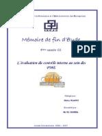 Evaluation Du Controle Interne Au Sein Des PME