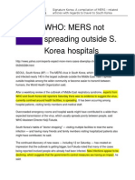 mers articles with who advisory