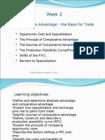 ECON1101 Week 2 Comparative Advantage Trade 2013