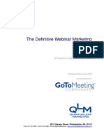 GoToWebinar Definitive Webinar Marketing EGuide