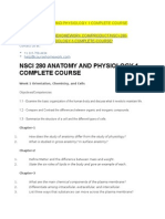 Nsci 280 Anatomy and Physiology 1 Complete Course
