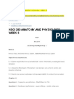 Nsci 280 Anatomy and Physiology 1 Week 5