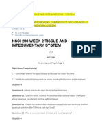 Nsci 280 Week 2 Tissue and Integumentary System