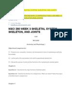 Nsci 280 Week 3 Skeletal System, Skeleton, And Joints