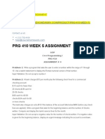 Prg 410 Week 5 Assignment