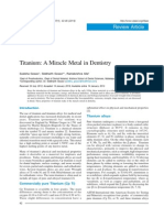 Titanium - A Miracle Metal in Dentistry