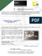 Brochure-scheda Promete English Intero