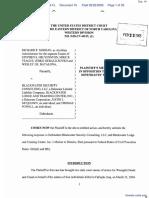 Nordan, et al v. Blackwater Security, et al - Document No. 16