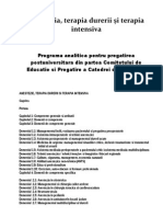 Programa Analitica Pentru Pregatirea Postuniversitara Curriculum 2012-05-14