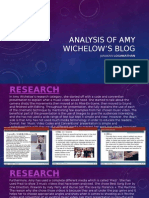 Analysis of Amy Wichelow's Blog