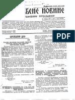 Službene Novine Kraljevine Jugoslavije