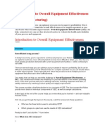 Introduction to Overall Equipment Effectiveness