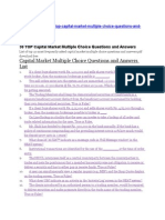 Capital Market Multiple Choice Questions and Answers List