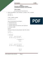 Sistem Persamaan Linear