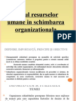 Rolul resurselor umane în schimbarea organizationala