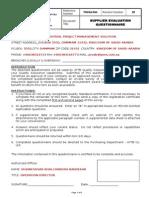 FM-QA-044 Rev 02 Supplier Evaluation Questionnaire