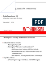Morning Star Mainstreaming Alternative Investments December 2009