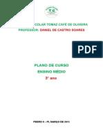 TCO PLANO DE CURSO MATEMÁTICA 3° ANO 2015 ENSINO MÉDIO