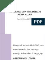 Menggapai Cita-cita Menuju Ridha Allah - Asep Effendi USB YPKP