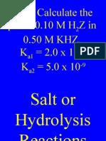24 Hydrolysis Chm II