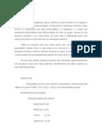 Identificação de Cátions do Grupo II