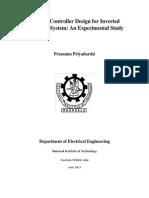Optimal Controller Design for Inverted Pendulum System