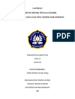 LAPORAN 2 - No Load Test & Load Test Generator Sinkron