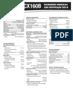 Especificações Técnicas - Case CE CX160B 1