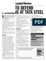 TATA Steel Pensions Strike