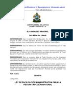 Ley de Facilitacion Adm Para La Reconstruccion Nacional (Actualizada-07) (1)