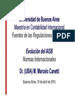 Evolución Del IASB 2010