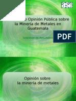 Peresentación de algunos resultados del estudio de Mineria