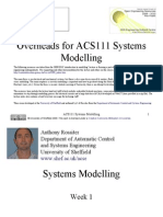 Overheads for ACS111 System Modelling 1