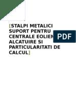 Stalpi Metalici Pentru Centrale Eoliene