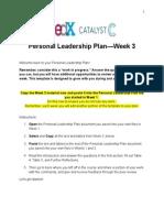 PersonalLeadershipPlan Template Week3