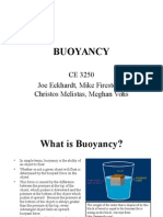 Buoyancy by Joe Eckhardt, Mike Firestone, Christos Melistas, and Meghan Vohs.ppt
