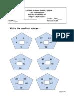 Math PracticeMath Practice Wksht-7