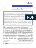 Developmental allometry and paediatric malaria