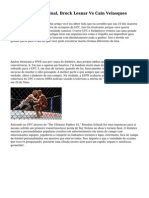 UFC 121 Desafio Final, Brock Lesnar Vs Cain Velasques