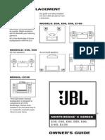 JBL Northridge E30 E60 E80 E90 Operators Manual English