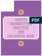 Hadith Handwriting and Colouring Book (Girls)