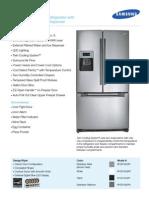 Samsung RF267AERS Refrigerator 26 cu. ft. Brochure