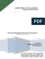 Tema 1 Derecho Municipal Autonomico