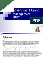Advertising Brand Management Unit I